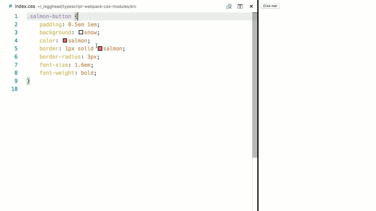 Import CSS Modules with TypeScript and webpack from