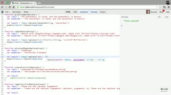 AngularJS tutorial about How to use JavaScript's String.replace