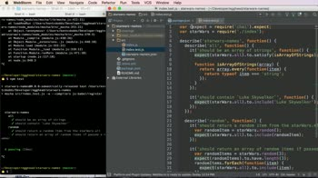 js tutorial about Adding ES6 Support to Tests using Mocha and Babel