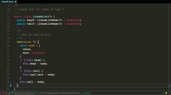 typescript tutorial about Implement a singly linked list in TypeScript