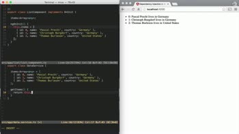 AngularJS tutorial about Injecting a service into a component