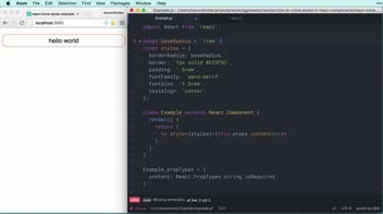 AngularJS tutorial about Intro to inline styles in React components