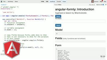 angularjs tutorial about Introduction to angular-formly