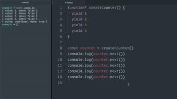 javascript tutorial about Iterate over JavaScript (ES6) generators