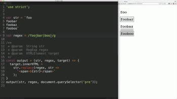 js tutorial about Javascript Regular Expressions: Find a String that Precedes Another String