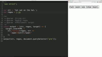 js tutorial about Find plain text patterns using regular expressions