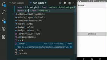 angular tutorial about Capture Drawings and Signatures in a NativeScript app