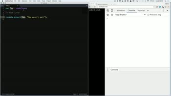 js tutorial about Proper use of console.assert in JavaScript