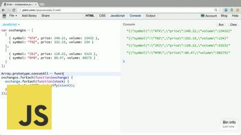 AngularJS tutorial about Create an Array concatAll method
