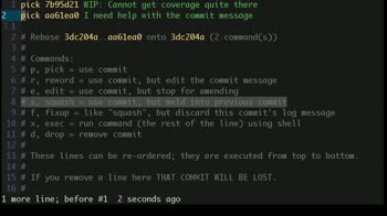 js tutorial about How to squash multiple git commits