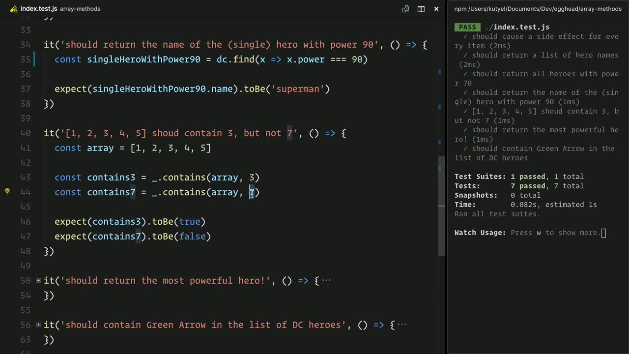 js tutorial about Use Native JavaScript Array Methods instead of Dependency Library