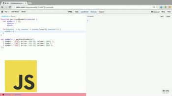 JavaScript tutorial about The Array forEach method