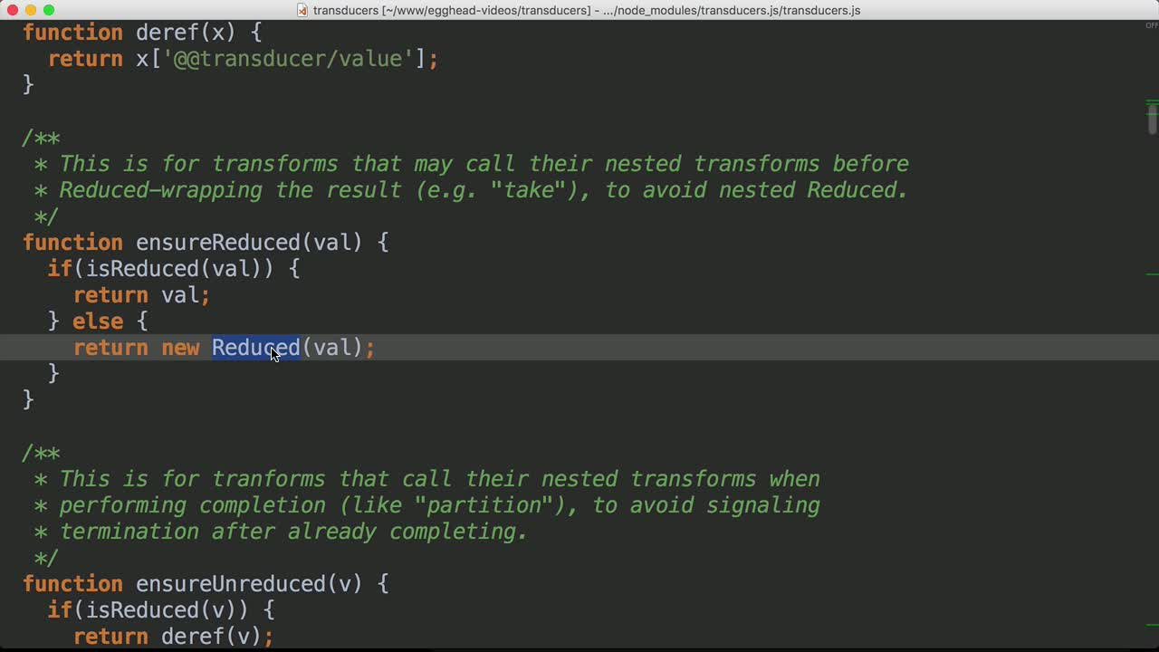 javascript tutorial about Use Transducers in Production