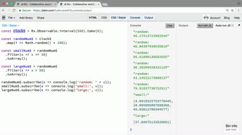 rxjs tutorial about Make Observables hot only where necessary
