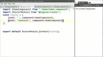 angular2 tutorial about Map a Second Angular 2 Route to a Component