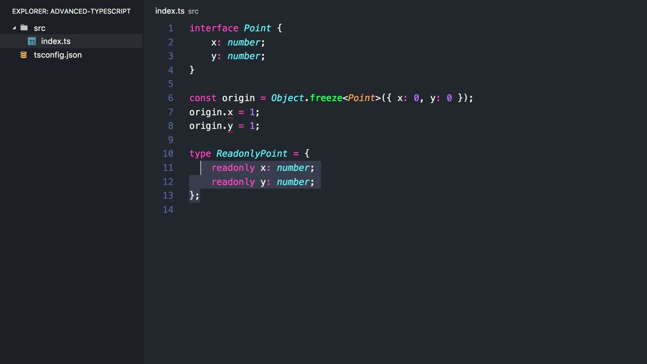 typescript tutorial about Transform Existing Types Using Mapped Types in TypeScript