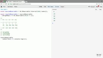 rx tutorial about Use RxJS mergeMap for fine-grain custom behavior