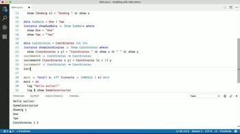 purescript tutorial about Model problems using Algebraic Data Types (ADTs)