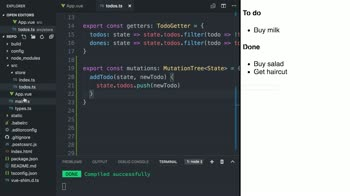 Vue js State Management with Vuex and TypeScript from @alexjoverm on