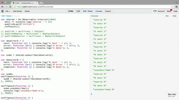 AngularJS tutorial about Multicasting shortcuts: publish() and variants