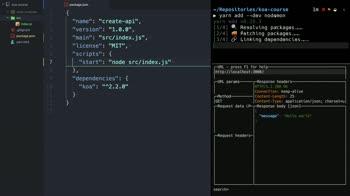 node tutorial about Setup Nodemon to automatically restart the server