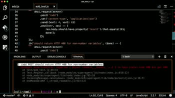 node tutorial about Test for HTTP 400 responses with Mocha and Chai