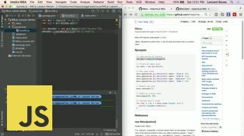 JavaScript tutorial about NW.js Basics: Overview of DevTools, Menu and MenuItems