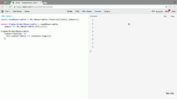 AngularJS tutorial about Get started with higher order observables in RxJS