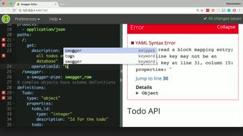 AngularJS tutorial about Define an HTTP GET Endpoint for a Node.js API Server with Swagger