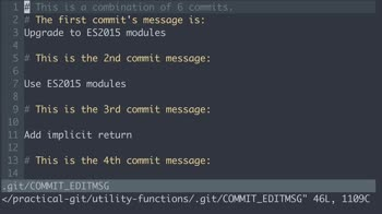 AngularJS tutorial about Practical Git: Clean up commits with git rebase