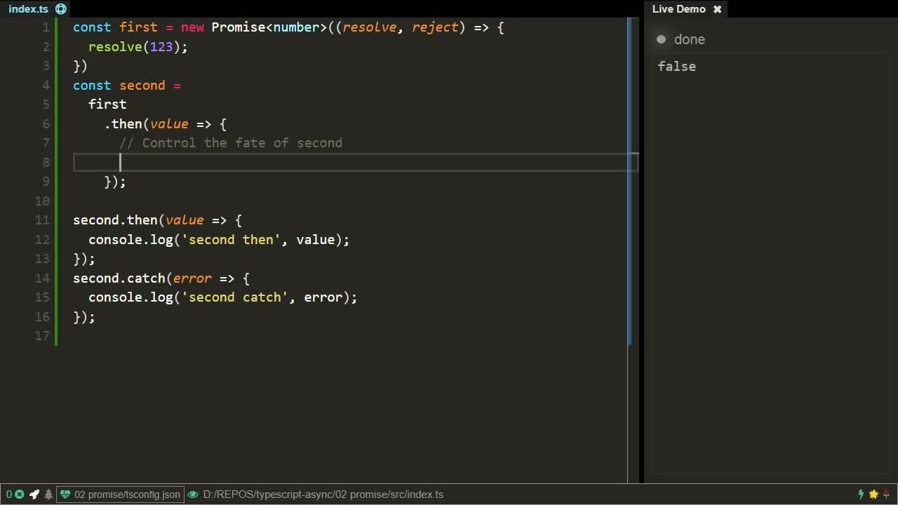 typescript tutorial about Promise Fundamentals using TypeScript