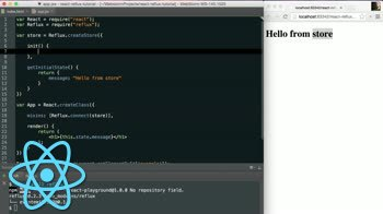 AngularJS tutorial about Connecting to a Reflux Store in React