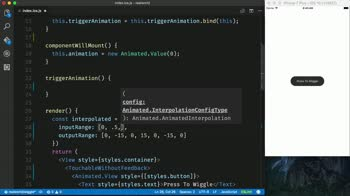 AngularJS tutorial about Create a Button Shake Animation in React Native