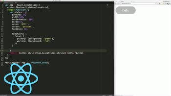 react tutorial about React CSS in JavaScript with Radium