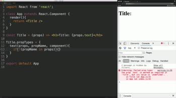 react tutorial about Add Custom propType Validation to React Components