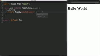 "react tutorial about Write a ""Hello World"" React Component"