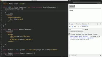 React tutorial about React Fundamentals: Higher Order Components (replaces Mixins)