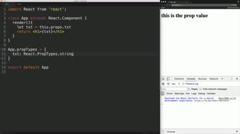 react tutorial about Set Properties on React Components