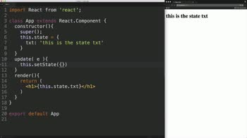 react tutorial about Manage React Component State with setState