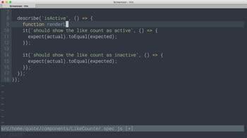 AngularJS tutorial about React Testing: Reusing test boilerplate
