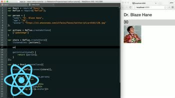 AngularJS tutorial about Reflux - Creating Your First Action in React
