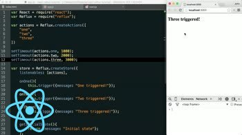 AngularJS tutorial about Reflux - Manually Triggering Actions