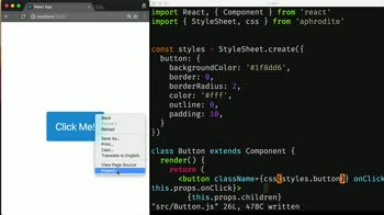 react tutorial about Styling React Components With Aphrodite