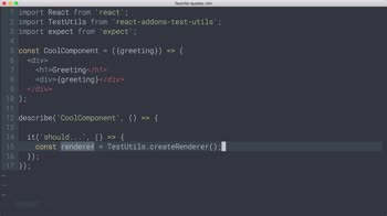 AngularJS tutorial about React Testing: Intro to Shallow Rendering