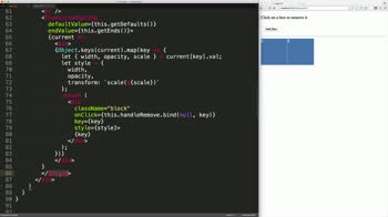 React tutorial about React-Motion: TransitionSpring Basics