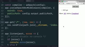 js tutorial about Redux: Filtering Redux State with React Router Params