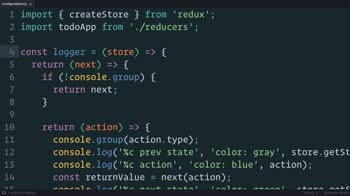 js tutorial about Redux: The Middleware Chain