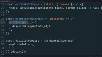 js tutorial about Redux: Using mapDispatchToProps() Shorthand Notation