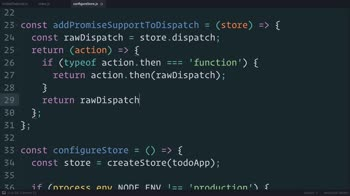 js tutorial about Redux: Wrapping dispatch() to Recognize Promises