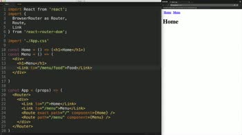 react tutorial about Render Nested Routes with React Router v4